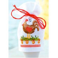 PN-0144487 Набор для вышивания чехол для яйца Vervaco 'Пасхальная курица' 9*12см
