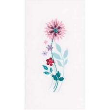 PN-0154587 Набор для вышивания Vervaco 'Современные цветы 3' 13*30см