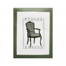 PN-0148609 Набор для вышивания Vervaco 'Стул в стиле барокко 1' 13*18см