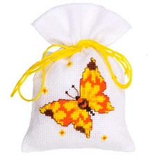 PN-0146851 Набор для вышивания Vervaco саше 'Желтая бабочка' 8*12см