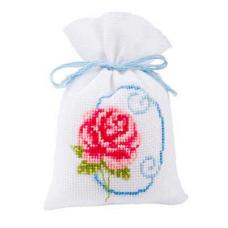 2002-48255 (PN-0011769) Набор для вышивания Vervaco Красная роза саше 8*12см
