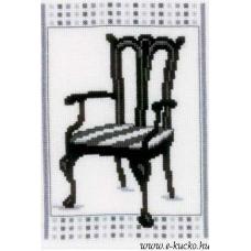 PN-0148611 Набор для вышивания Vervaco 'Стул в стиле барокко 2' 13*18см