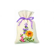PN-0011766 Набор для вышивания Vervaco саше 'Разные цветы' 8*12см
