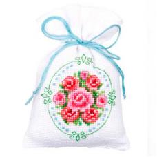 PN-0144761 Набор для вышивания Vervaco саше 'Романтическое чаепитие' 8*12см
