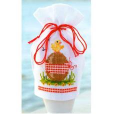 PN-0144373 Набор для вышивания чехол для пасахального яйца Vervaco 'Пасхальное яйцо' 9*12см