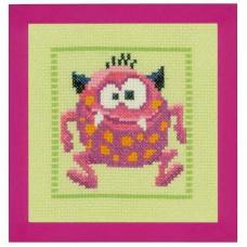 PN-0150594 Набор для вышивания Vervaco 'Розовый монстр' 19*20см