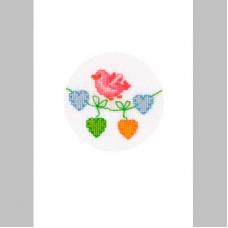 2050-12112 Набор для вышивания открытка и конверт 'Птичка' Vervaco 10,5*15см