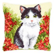 Подушка PN-0143701 Кошка в цветах