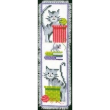 PN-0143915 Набор для вышивания закладка для книг Vervaco 'Любопытные кошки' 6*20см